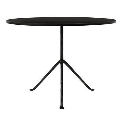 Outdoor - Garden Tables - Officina Outdoor Round table - Ø 100 cm - Steel top by Magis - Black steel / Black feet - Iron, Steel