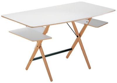 Arredamento - Mobili da ufficio - Scrivania Scrittarello di De Padova - Bianco - Faggio massello, Multistrato di faggio stratificato