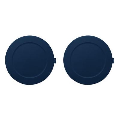 Set de table Place-we-met /Lot de 2 - Silicone - Fatboy bleu en matière plastique