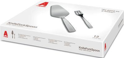Tavola - Posate - Set di posate KnifeForkSpoon - / Paletta per torta + 6 forchettine da dolce di A di Alessi - Acciaio brillante - Acciaio inossidabile
