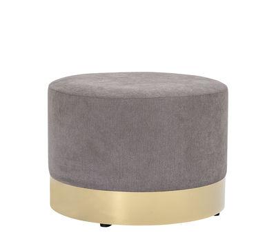 Dia Sitzkissen / Ø 55 cm x H 40 cm - Bloomingville - Grau,Gold