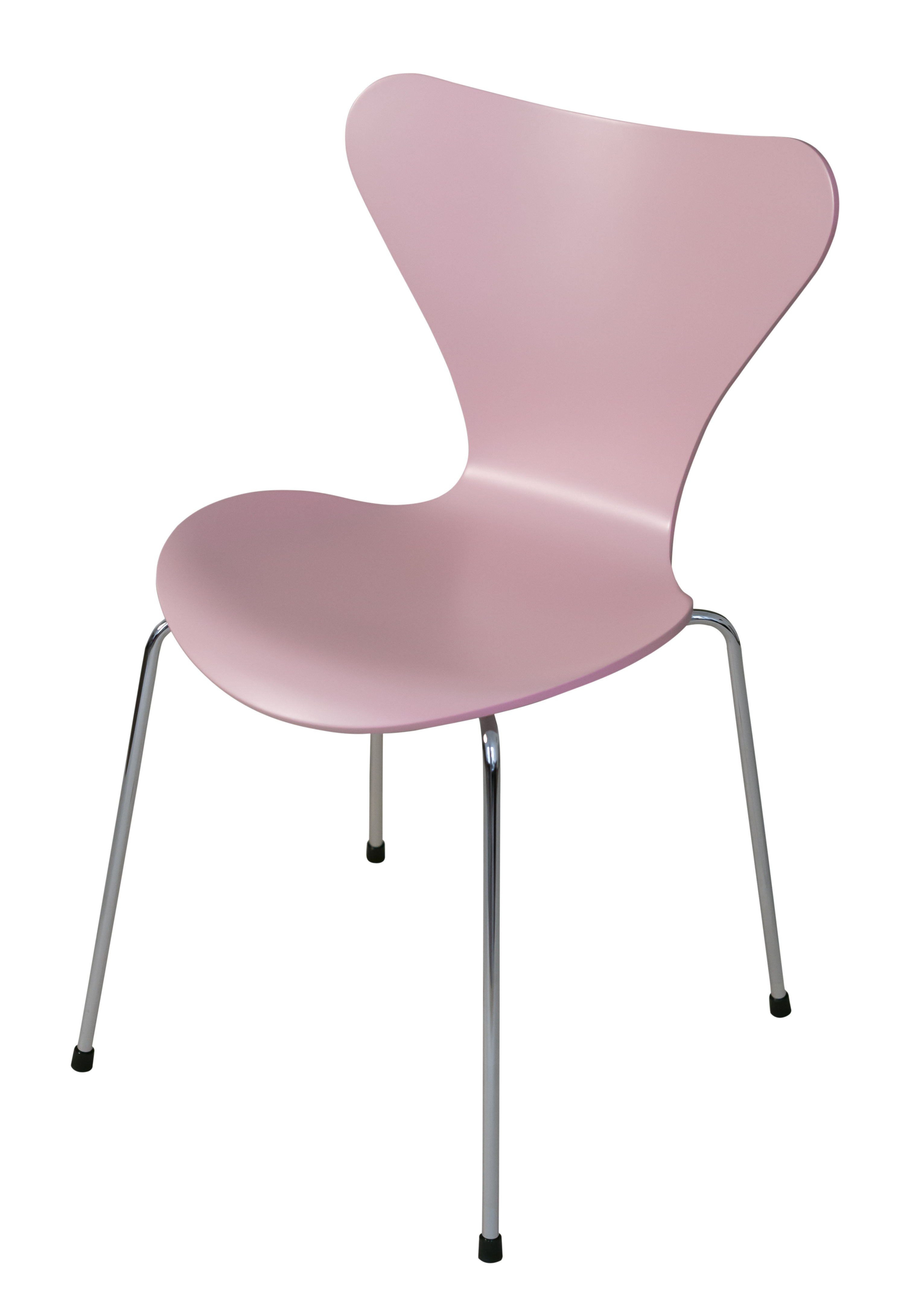 Furniture - Chairs - Série 7 Stacking chair - / Lacquered wood - 20 years of MID limited edition by Fritz Hansen - Pantone P510c pink / Chromed legs - Lacquered plywood, Steel