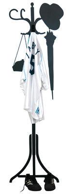 Arredamento - Appendiabiti  - Sticker Vynil + Hanger di Domestic - Nero - Vinile
