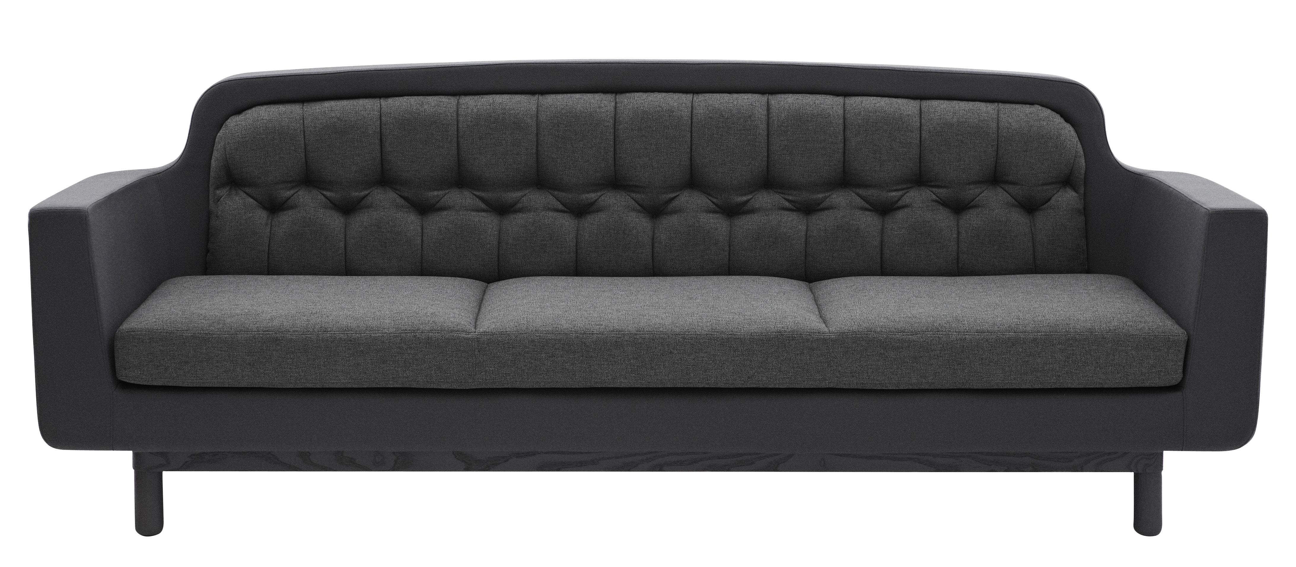 Furniture - Sofas - Onkel Straight sofa - W 235 cm - 3 seats by Normann Copenhagen - Dark Grey - Wood