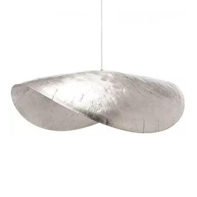 Luminaire - Suspensions - Suspension Brass 96 / L 120 cm - Gervasoni - Nickel - Nickel