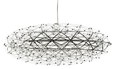 Luminaire - Suspensions - Suspension Raimond Zafu LED / Ø 75 cm - Moooi - Acier - Acier inoxydable, Aluminium, PMMA
