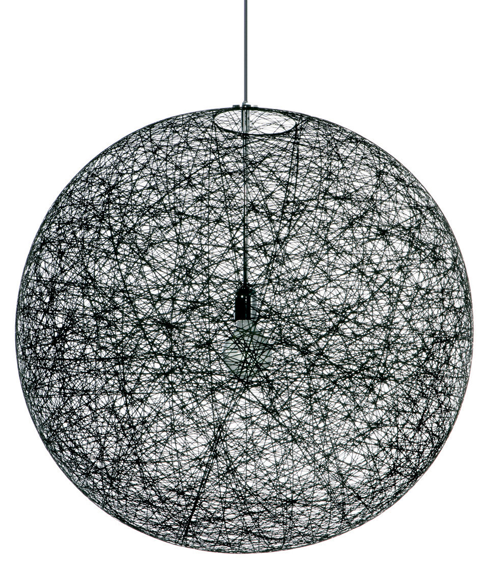 Luminaire - Suspensions - Suspension Random Light / Small - Ø 50 cm - Moooi - Noir - Fibre de verre