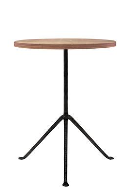 Table d'appoint Officina Outdoor / Ø42 x H56 cm - Plateau frêne - Magis noir,frêne foncé en métal