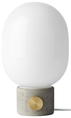 Lighting - Table Lamps - JWDA Table lamp by Menu - Grey concrete / White - Brass, Concrete, Glass