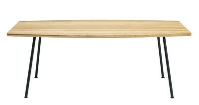 Jardin - Tables de jardin - Table rectangulaire Agave / 200 x 100 cm - Ethimo - Teck & noir - Métal laqué, Teck naturel