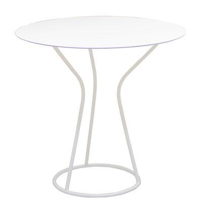 Table ronde Solea / Ø 70 cm - Serralunga blanc en métal