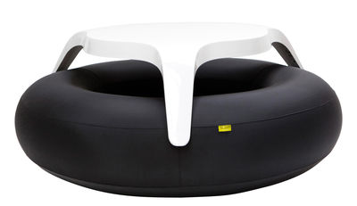 Furniture - Benches - DoNuts Table & seats set - Table and bench set by Blofield - White / black - Nylon, Polyester