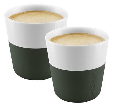 Arts de la table - Tasses et mugs - Tasse à espresso / Set de 2 - 80 ml - Eva Solo - Vert Forêt - Porcelaine, Silicone
