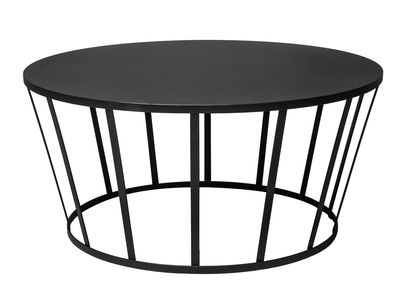 Arredamento - Tavolini  - Tavolino basso Hollo / Ø 70 x H 33 cm - Petite Friture - Nero - Acciaio inossidabile