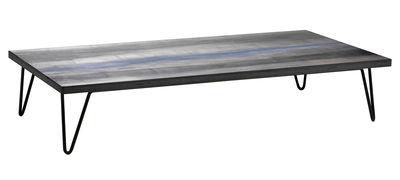 Arredamento - Tavolini  - Tavolino Overdyed di Diesel with Moroso - Grigio slavato - Acciaio laccato, MDF rivestito in rovere tinto
