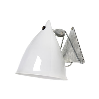 Leuchten - Wandleuchten - Cornette Wandleuchte aus Porzellan - Tsé-Tsé - Porzellan weiß, glänzend emailliert - Porzellan