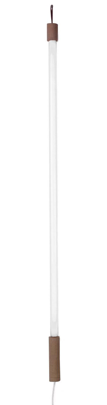 Leuchten - Stehleuchten - Linea Wandleuchte mit Stromkabel LED / L 134 cm - Seletti - Weiß - Glas, Neongas, Plastik
