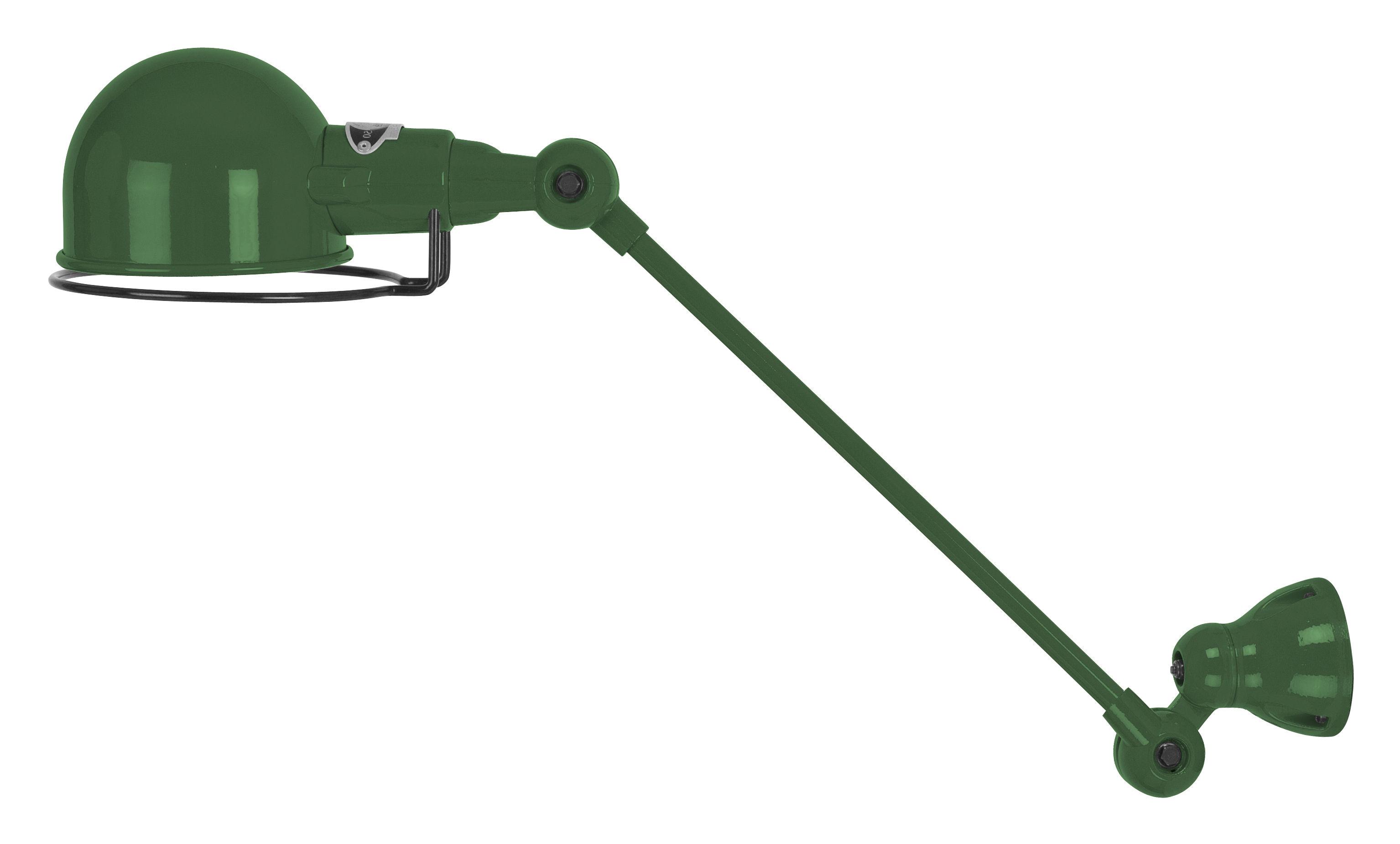 Leuchten - Wandleuchten - Signal Wandleuchte / mit Gelenkarm - L 30 cm - Jieldé - Olivgrün, glänzend - rostfreier Stahl