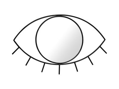 Dekoration - Spiegel - Cyclops Medium Wandspiegel / L 43 cm x H 28 cm - Doiy - Medium / schwarz - Glas, Metall