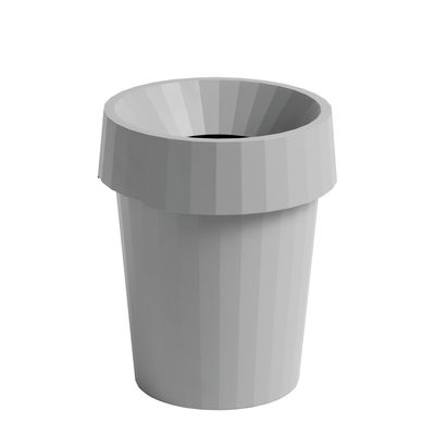 Accessories - Desk & Office Accessories - Shade Wastepaper basket - / Ø 30 x H 37 cm by Hay - Grey - Recyclable polypropylene