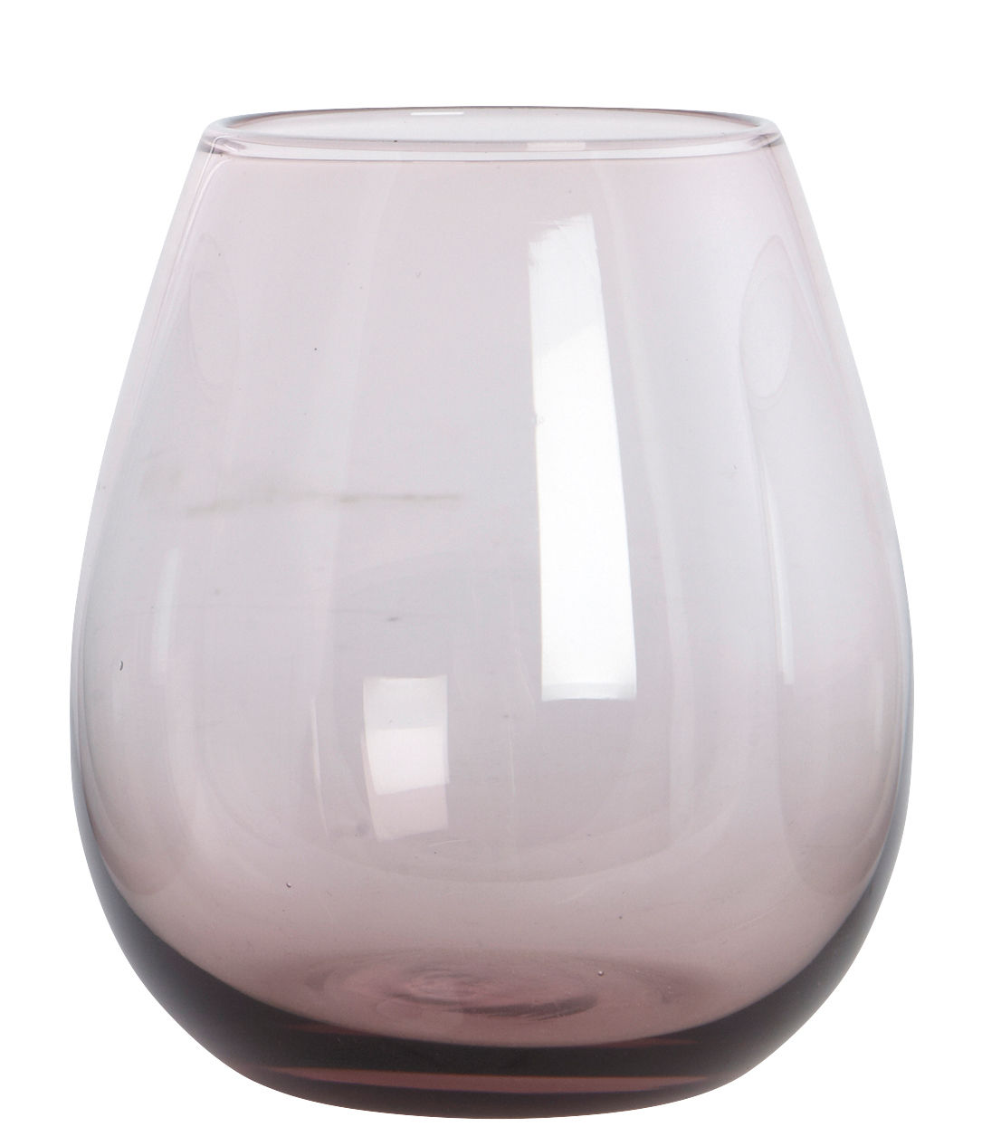 Tableware - Wine Glasses & Glassware - Ball Water glass - /H 10 cm by House Doctor - Purple - Mouth blown glass