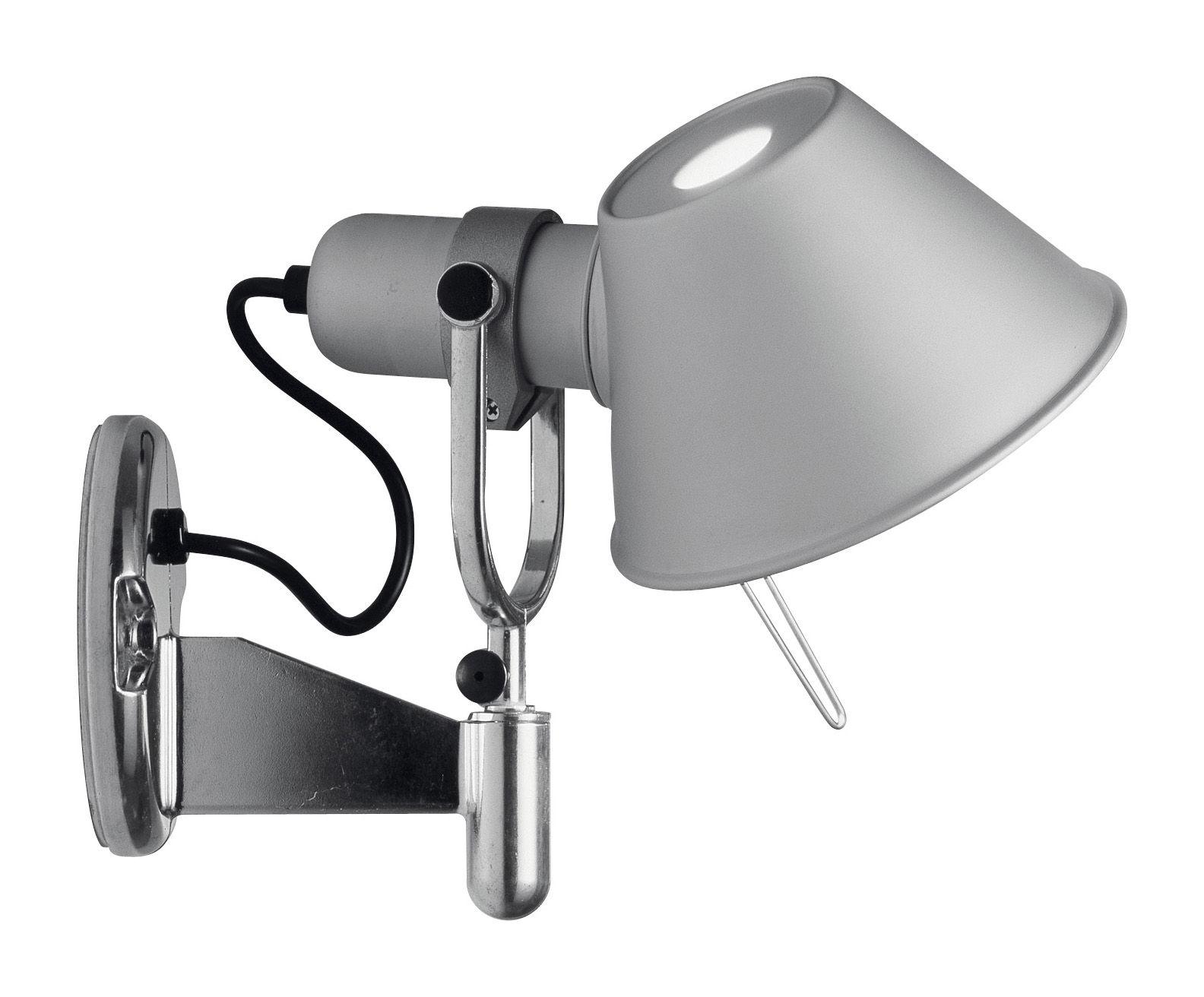 Illuminazione - Lampade da parete - Applique Tolomeo Faretto - H 23 cm di Artemide - Alluminio - Alluminio anodizzato, Alluminio lucido