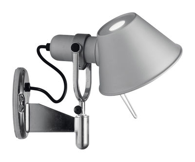 Applique Tolomeo Faretto / Avec interrupteur - Artemide aluminium en métal