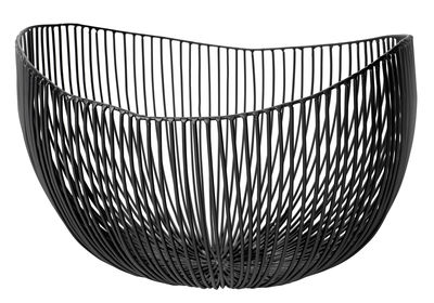 Tableware - Fruit Bowls & Centrepieces - Tale Basket - W 31 cm by Serax - Black - W 31 cm - Metal