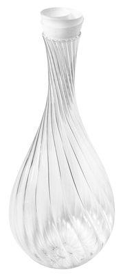 Arts de la table - Carafes et décanteurs - Carafe Spirale / Avec bouchon tissu - 1,5 L - L'Atelier du Vin - Transparent / Bouchon tissu blanc - Verre soufflé bouche