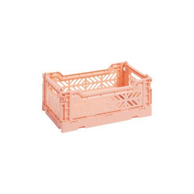 Image of Cestino Colour Crate - Small / 26 x 17 cm di Hay - Rosa - Materiale plastico