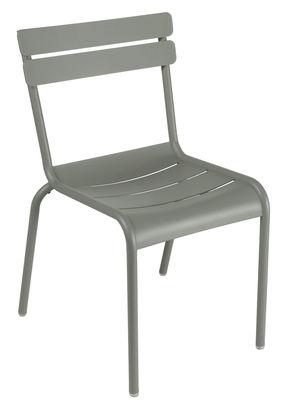 Mobilier - Chaises, fauteuils de salle à manger - Chaise empilable Luxembourg / Aluminium - Fermob - Romarin - Aluminium laqué