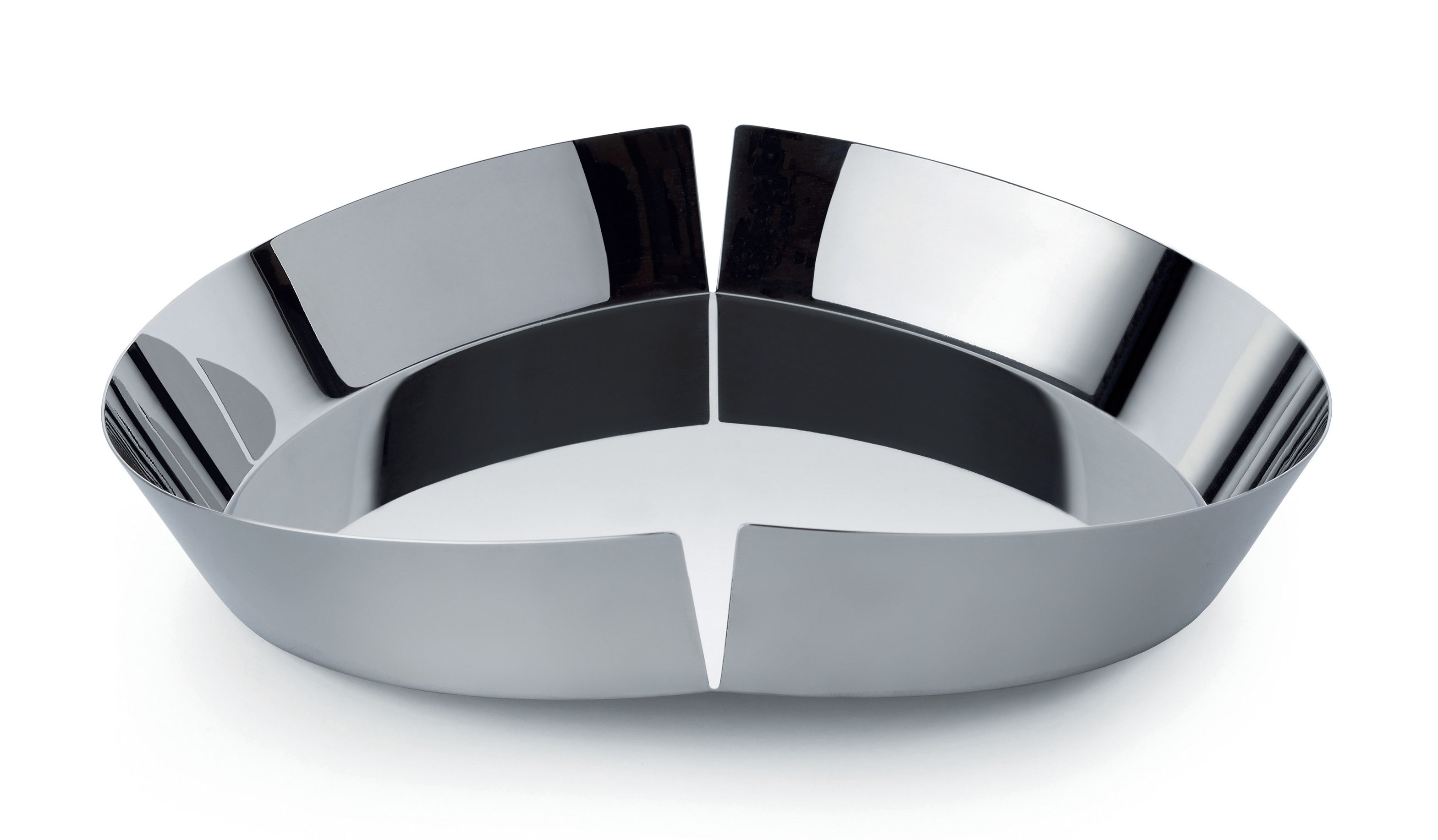 Arts de la table - Saladiers, coupes et bols - Corbeille à fruits Broken Bowl / Ø 31 cm - Alessi - Acier brillant - Acier inoxydable 18/10