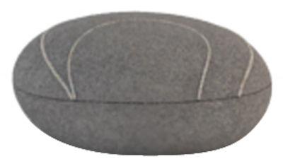 Coussin Yann Livingstones / Laine - 29x26 cm - Smarin gris foncé en tissu