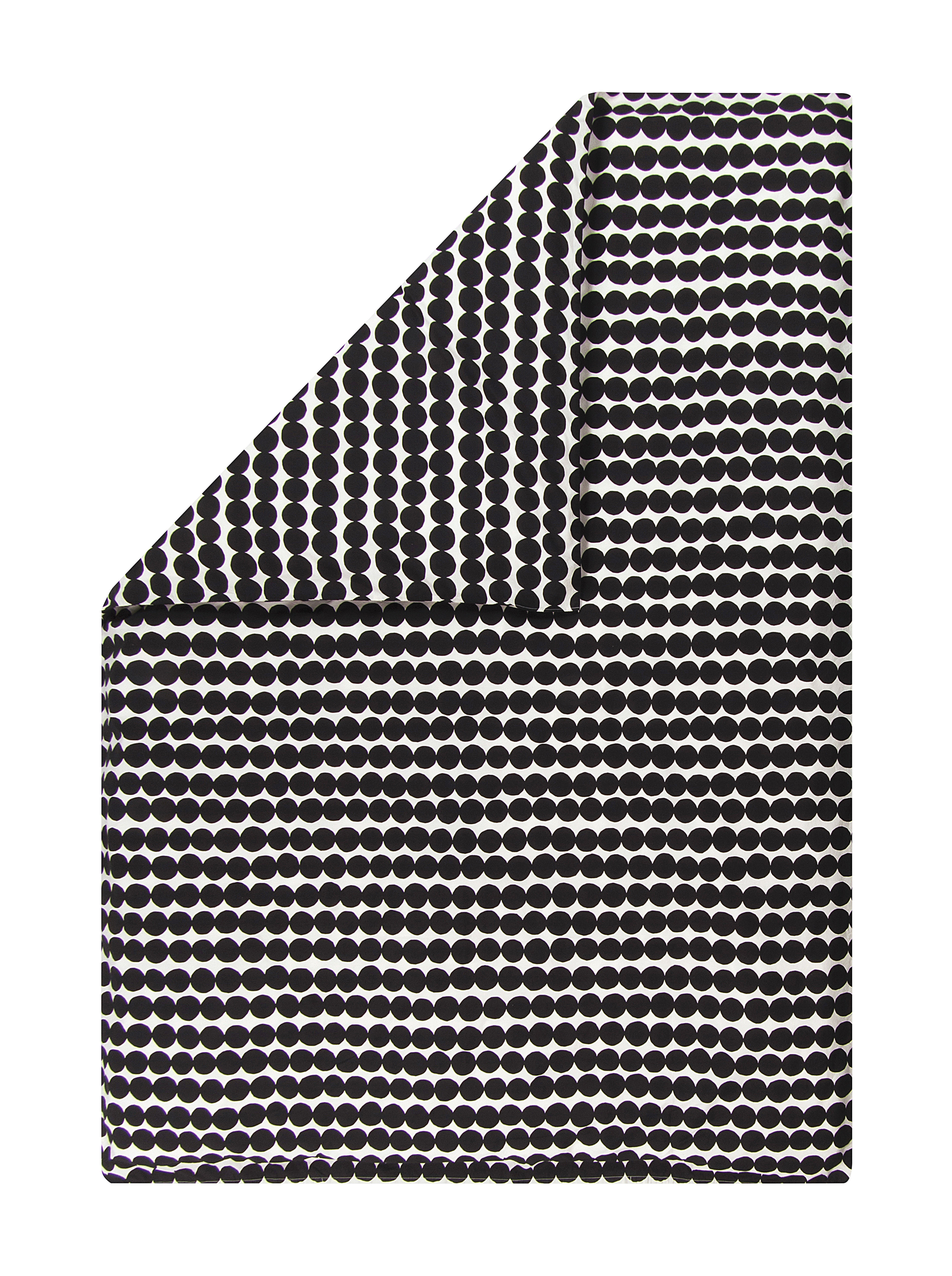 Decoration - Bedding & Bath Towels - Räsymatto duvet cover - / 240 x 220 cm by Marimekko - Räsymatto / Black & white - Cotton