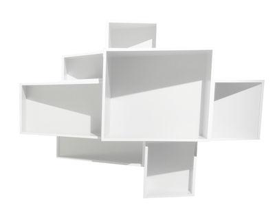 Mobilier - Etagères & bibliothèques - Etagère SheLLf /Moyen modèle Uni - Kristalia - l 146 x H 105 cm - Blanc uni - MDF laqué