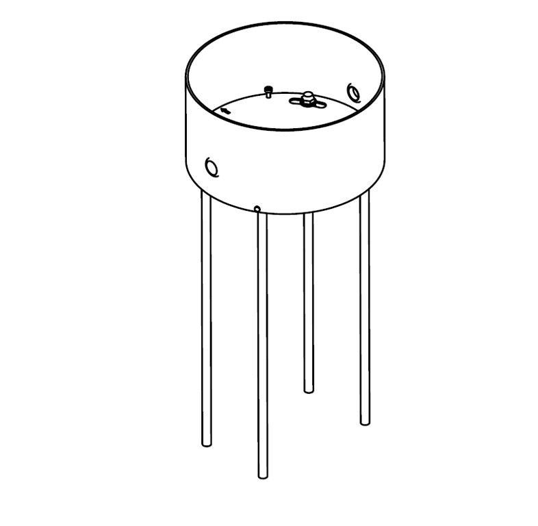 Lighting - Floor lamps - Fastening kit - Ground installation kit for the Toobo by Fontana Arte -  - Steel