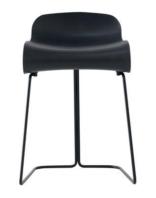 Möbel - Hocker - BCN Hocker - Kristalia - schwarz - gefirnister Stahl, Plastik mit PBT