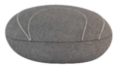 Möbel - Möbel für Teens - Yann Livingstones Kissen Wolle / für den Inneneinsatz - 29 x 26 cm - Smarin - Dunkelgrau - 29 x 26 cm / H 10 cm - Polysilikon-Faser, Wolle