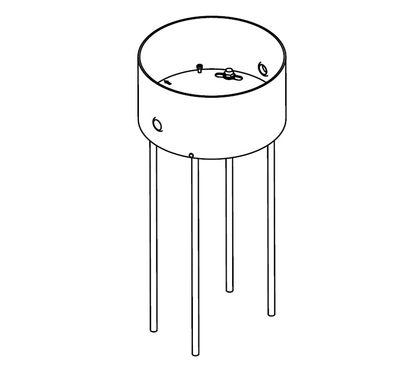 Kit d'ancrage pour ancrer lampadaire Toobo dans béton - Fontana Arte acier en métal