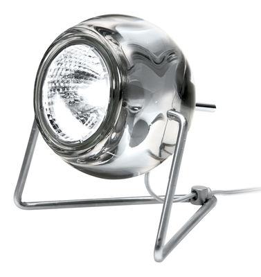 Image of Lampada da tavolo Beluga - Versione vetro di Fabbian - Trasparente - Metallo/Vetro