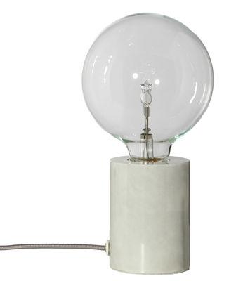 Lampe de table Bristol / Marbre - Frandsen gris,marbre blanc en pierre