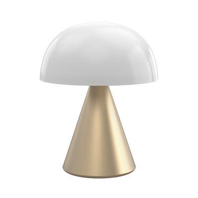 Luminaire - Lampes de table - Lampe sans fil Mina Large / LED - H 17 cm / OUTDOOR / Lumière colorée - Lexon - Or doux - ABS, Aluminium