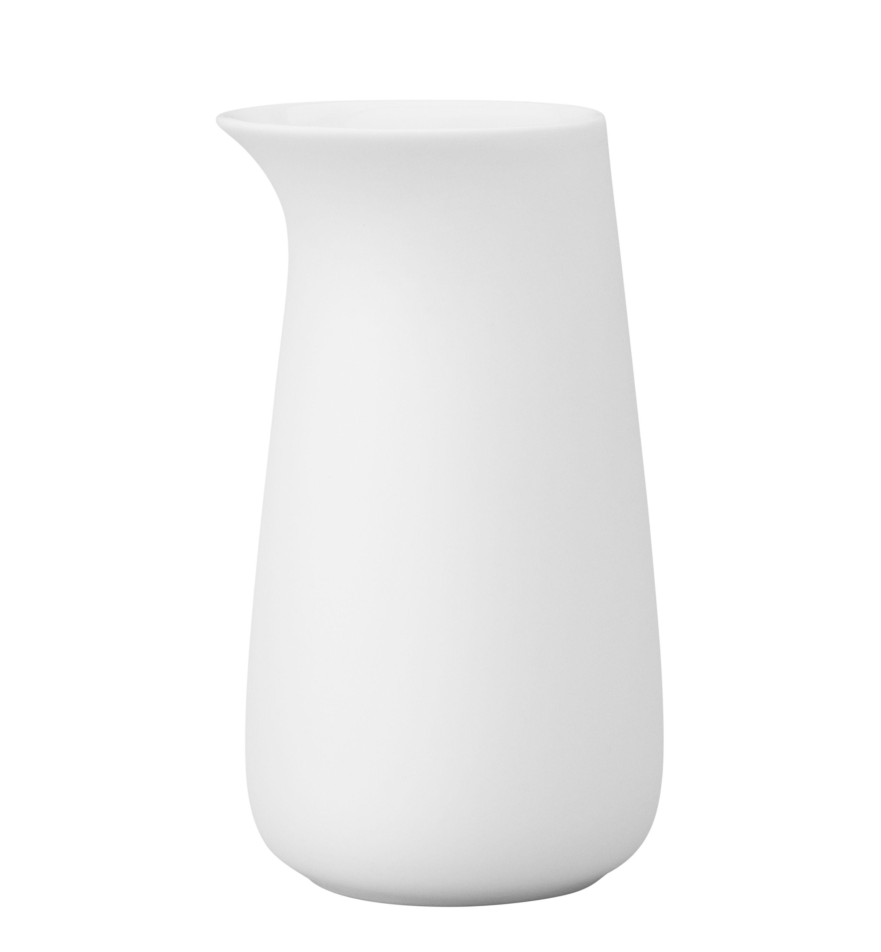 Tischkultur - Tee und Kaffee - Foster Milchtopf / Steinzeug - 0,5 l - Stelton - Weiß - Porzellan