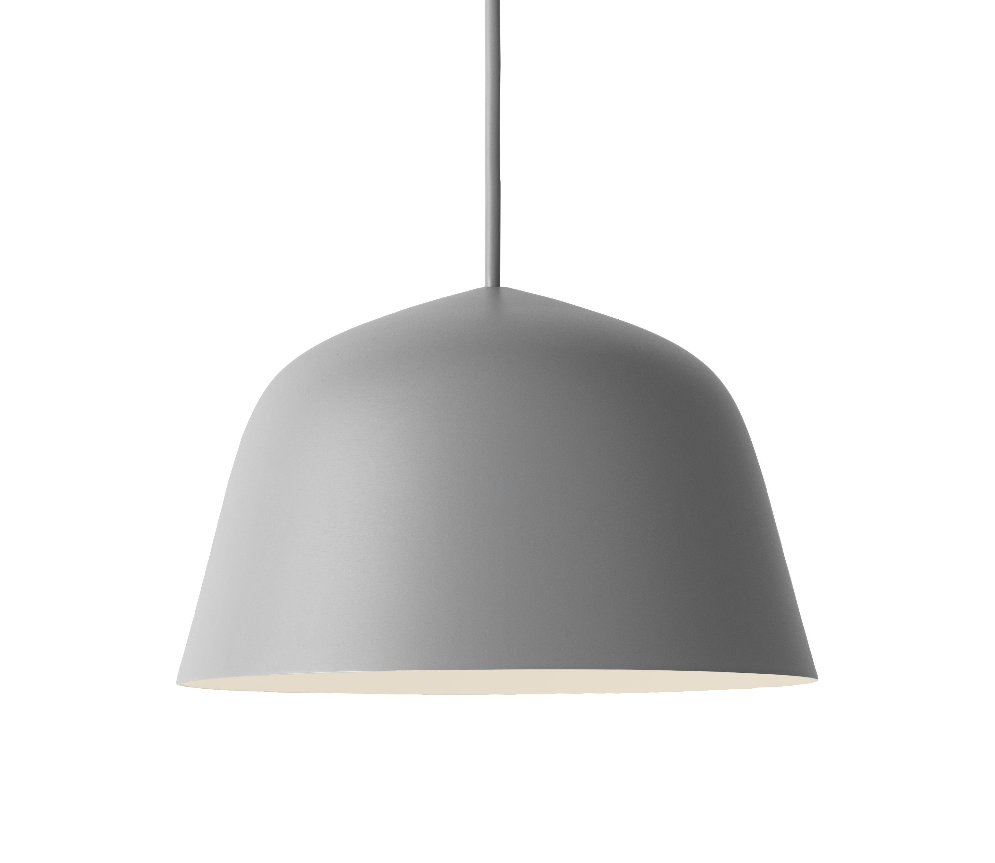 Leuchten - Pendelleuchten - Ambit Pendelleuchte / Ø 25 cm - Metall - Muuto - Grau - Aluminium