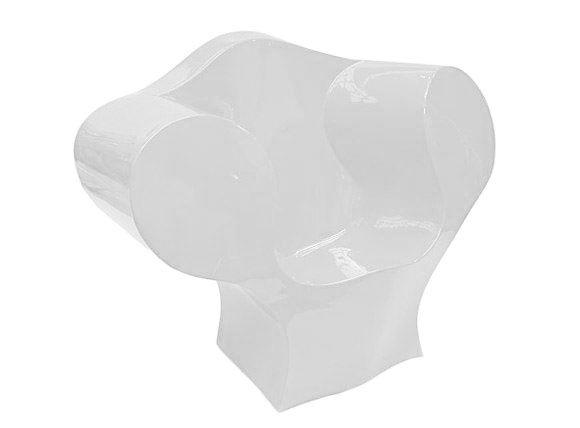 Arredamento - Mobili d'eccezione - Poltrona The Big Easy - Versione laccata di Moroso - Bianco laccato - Polietilene laccato
