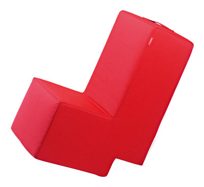 Mobilier - Mobilier Kids - Pouf Lümmel - Sellando - Pop Corn - Rouge - Mousse, Toile de polyester