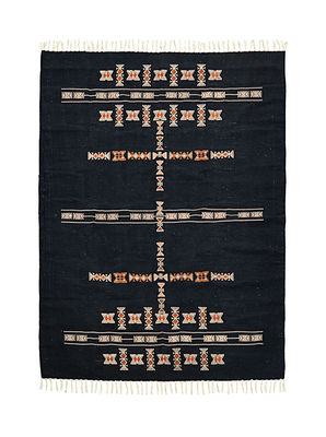 Decoration - Rugs - Mila Rug - / 200 x 140 cm by House Doctor - 200 x 140 cm / Dark blue - Cotton, Polyester