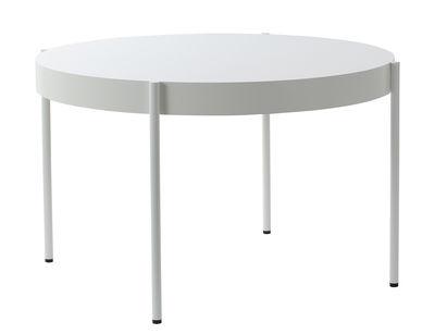 Möbel - Tische - Series 430 Runder Tisch / Ø 120 cm - Tischplatte Fenix-NTM® - Verpan - Fenix-NTM® / weiß - Fenix-NTM®, geschichtet, Holzfaserplatte, lackierter Stahl