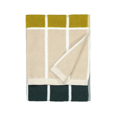 Déco - Textile - Serviette de toilette Tiiliskivi / 50 x 70 cm - Marimekko - Tiiliskivi / Vert, sable, doré - Coton éponge
