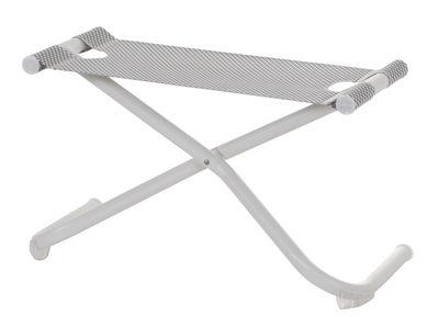 Möbel - Sitzkissen - Snooze Sitzkissen / Fußablage - Emu - Weiß - gefirnister Stahl, Tissu technique